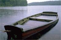 Boat on a peaceful lake
